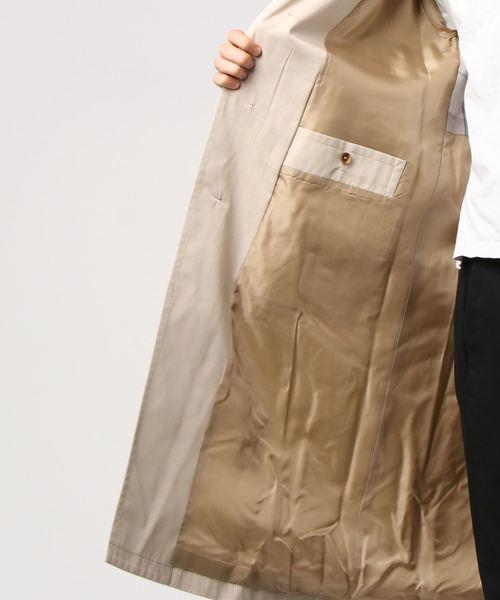 【FACTOTUM】高密度コットンステンカラーコート