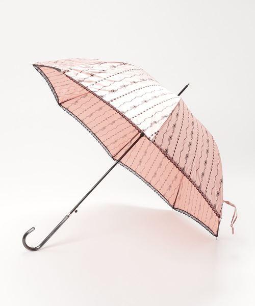 雨晴兼用 サテンジュエリープリント 長傘 1281