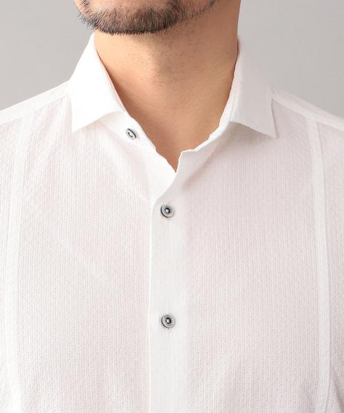 ドビーシャンブレー ホリゾンタルカラーシャツ