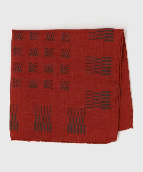 LUIGI&SONS ウール 小紋 ポケットチーフ