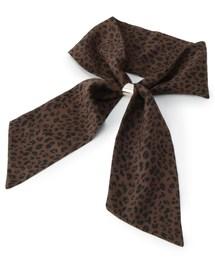 SHOO・LA・RUE(シューラルー)のレオパード柄ナロースカーフ(バンダナ/スカーフ)