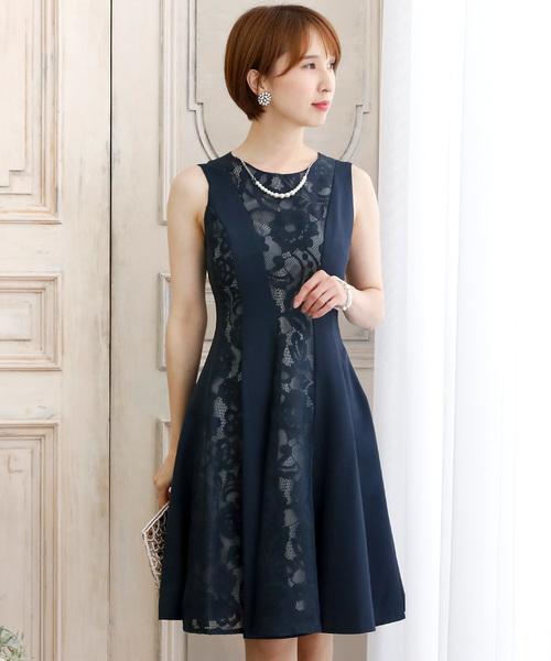 【誠実】 レース切り替えノースリーブドレス・結婚式・お呼ばれワンピース・パーティードレス(ドレス)|PourVous(プールヴー)のファッション通販, プリザーブドフラワーIPFA:cec513e6 --- steuergraefe.de