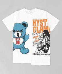 GIRL&HALF BEAR Tシャツ【L】アイボリー