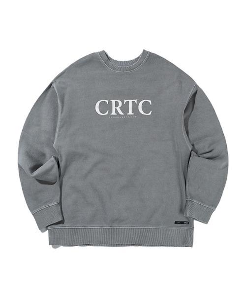 【CRITIC 】ピグメント CRTC ロゴ スウェットシャツ