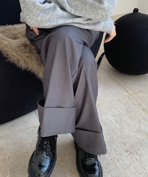 【chuclla】【2021/AW】Rolle up wide pants chw21a067