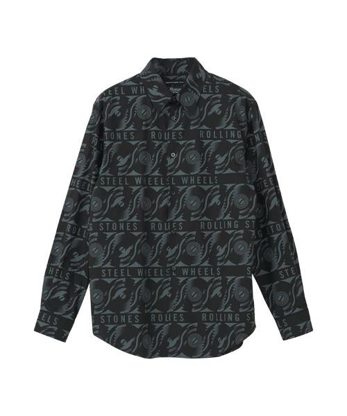 THE ROLLING STONES/STEEL WHEELS柄 レギュラーカラーシャツ
