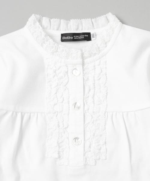 BeBe/スムースフリルTシャツ