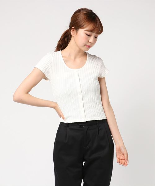 CUT CABLE CROPPED TOPS