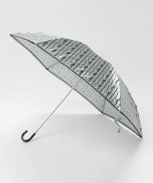 雨晴兼用 サテンジュエリープリントミニ折りたたみ傘 1381ブルー