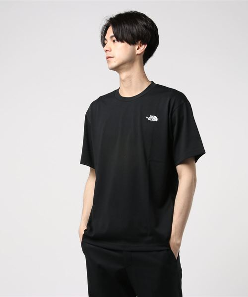 THE NORTH FACE(ザノースフェイス)の「S/S National Flag Square Logo Tee(Tシャツ/カットソー)」|ブラック