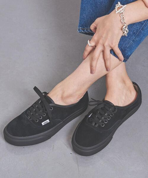 <VANS(ヴァンズ)>AUTHENTIC BLACK スニーカー