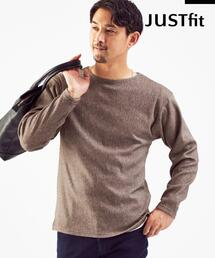 【WEB限定】<green label relaxing> JUSTFIT インレイ  クルーネック カットソー