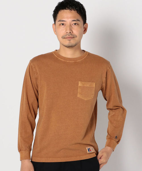 RUSSELL ATHLETIC×SHIPS: 別注 ユーズド加工 ロングTシャツ 18FW□