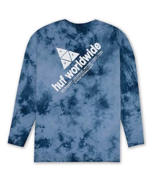 PEAK LOGO CRYSTAL WASH L/S TEE HUF ハフ Tシャツ