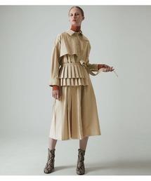 LE CIEL BLEU(ルシェルブルー)のPleated Belt Shirt Dress(ワンピース)