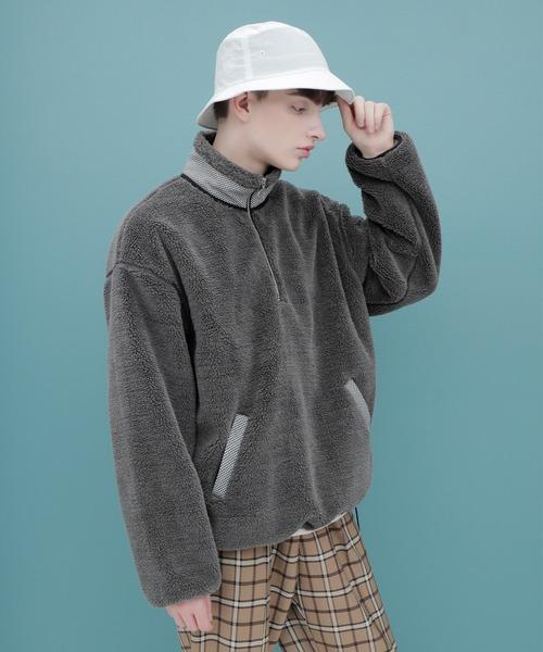 ボアフリース ハーフジップ プルオーバー【ファッションインフルエンサーろむし×EMMA CLOTHES 限定コラボ】