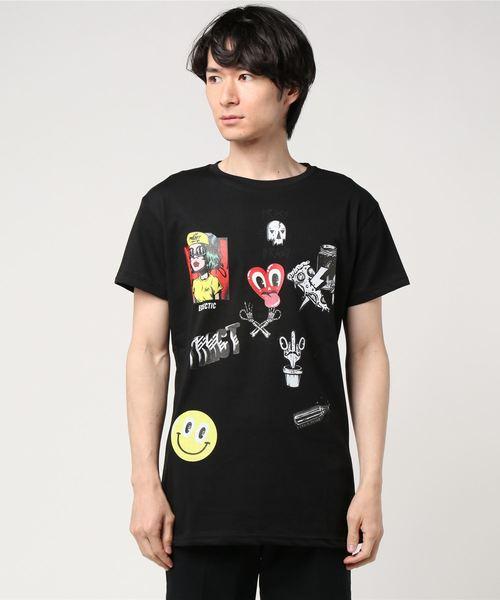 Tract(トラクト)の「ELECTIC T-SHIRT(Tシャツ/カットソー)」|ブラック