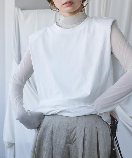 【chuclla】【2021/SS】Power shoulder cutsew chw1535