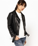 beautiful people | 【beautiful people】vintage leather riders jacket ライダースジャケット(ライダースジャケット)