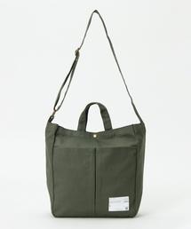 ikka(イッカ)のコットンWポケットトートバッグ ミニ(ショルダーバッグ)
