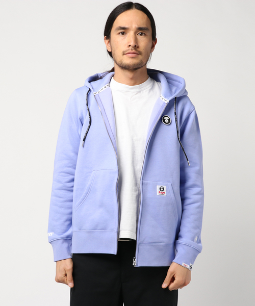 AAPE BY A BATHING APE(エーエイプバイアベイシングエイプ)の「AAPE ZIP UP HOODIE(パーカー)」|ライトパープル