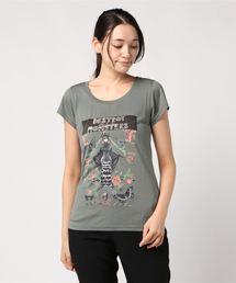 NIAGARA/DAM FLOWER Tシャツカーキ