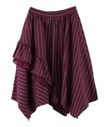 axes femme(アクシーズファム)のレジメ柄裾フリルスカート(スカート)