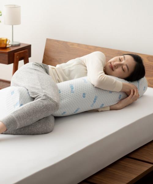 EMOOR(エムール)の「【ラテックス】高反発超柔らか抱き枕(寝具)」 ホワイト