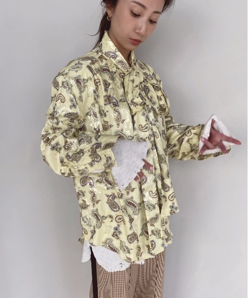 【SANSeLF】 paisley pattern blouse sanw28