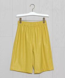 <H>FAKE LEATHER SHORT PANTS/パンツ