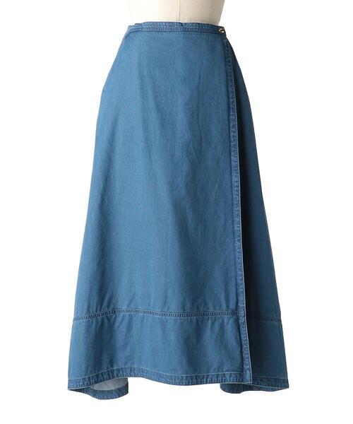 <Drawer(ドゥロワー)> ブリーチデニムAラインスカート
