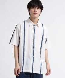 tk.TAKEO KIKUCHI(ティーケータケオキクチ)のストライプサテンシャツ(シャツ/ブラウス)