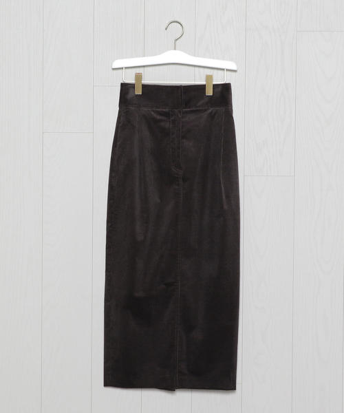 <H>SOFT CORDUROY HIGH WAIST TIGHT SKIRT/スカート