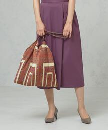 <casselini> プリーツ スカーフプリント バッグ