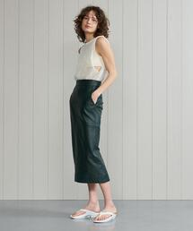 <H>LEATHER TIGHT SKIRT/スカート