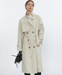 【Fano Studios】【2021SS】Oversized double breasted high neck trench coat FC21W033