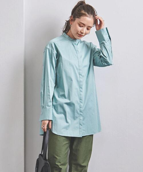 UWSC バンドカラー ロングシャツ 21FW†