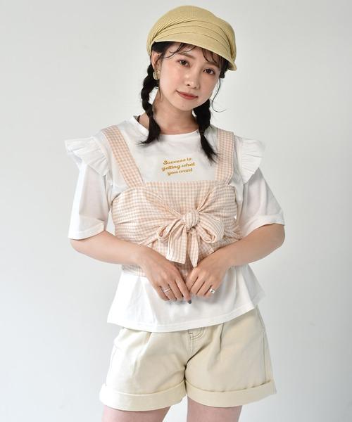 【セットアイテム】ギンガムビスチェ+Teeセット