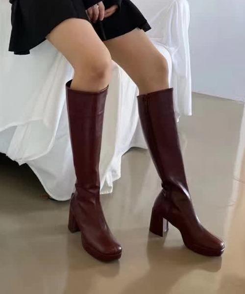 【chuclla】【2021/AW】Chunky volume sole long boots chs21a014