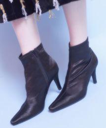 LILICIOUS(リリシャス)のサテンカラーブーツ(ブーツ)