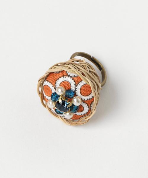 ulab.(ウラボ)の「【ulab.】Basket Ring(リング)」|オレンジ