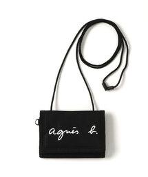 9cd6d456db50 agnes b.(アニエスベー)の「GL11 E BAG ロゴ刺繍 パスケース/