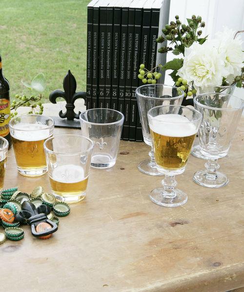 CANAL JEAN(キャナルジーン)の「DULTON(ダルトン) Aqua glass'Fleure lis'/アクアグラス'Fleure lis'(グラス/マグカップ/タンブラー)」|クリア