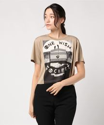 NIAGARA/ONE WISH SOCIETYショートTシャツベージュ