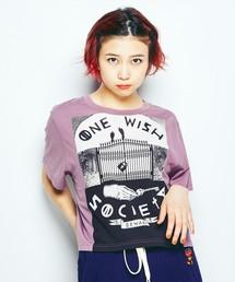 NIAGARA/ONE WISH SOCIETYショートTシャツパープル