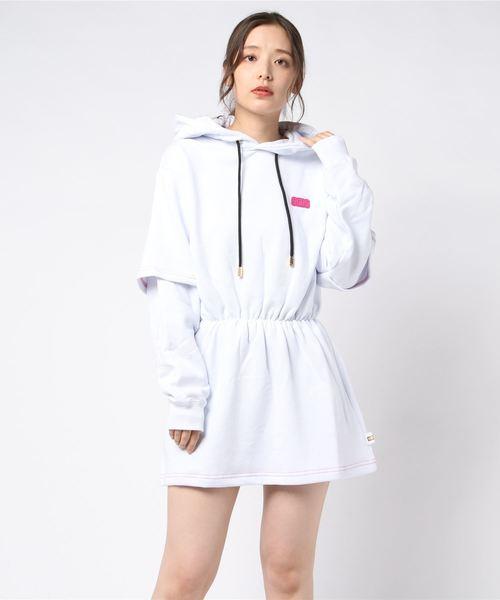 【信頼】 GCDS ROYAL FLASH/ジーシーディーエス/BASIC W DRESS HOODIE(ワンピース) DRESS|GCDS(ジーシーディーエス)のファッション通販, gemstone:f4ec2c71 --- pyme.pe