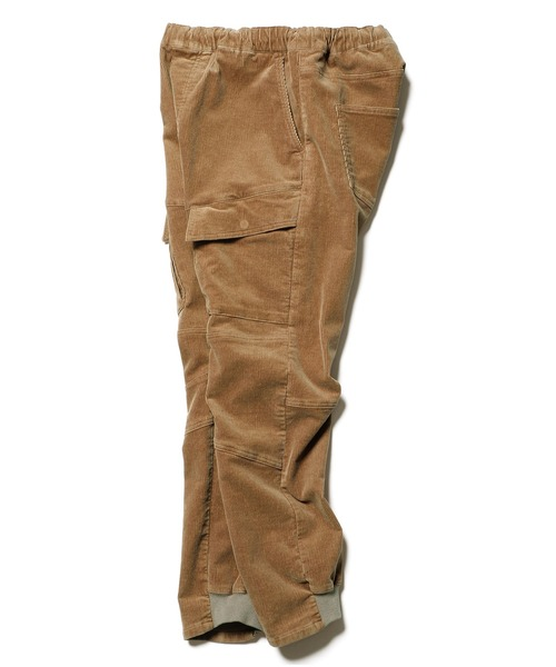 STRETCH CORDUROY FRONT POCKET RIBBED CARGO PANTS