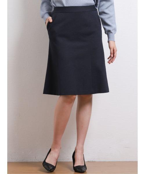 エムエフエディトリアルレディース/m.f.editorial:Women ストレッチウォッシャブルバーズアイ セットアップ フレアースカート(セットアップジャケット·パンツございます)