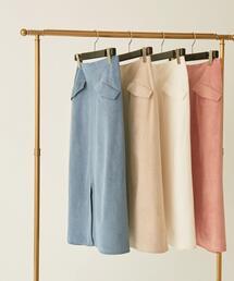【EMMEL REFINES】【手洗可能】EM HW フェイクスウェード Aラインスカート