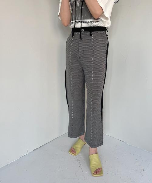 【SANSeLF】 stitch design slacks sanw30
